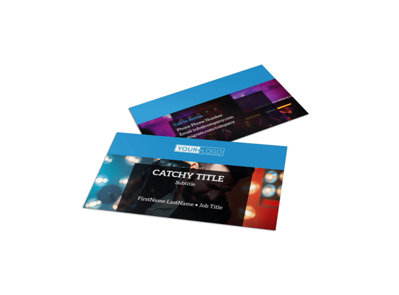 Live Music Concert Business Card Template