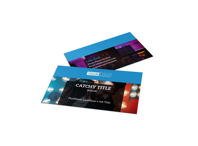 Live Music Concert Business Card Template Preview 1