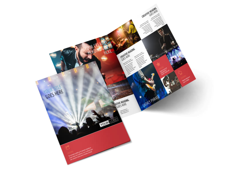 Band Info Bi-Fold Brochure Template 2