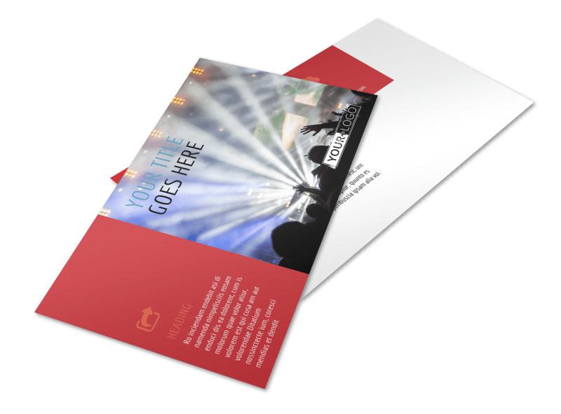 Band Info Postcard Template 2