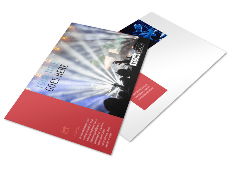 Band Info Postcard Template Preview 4