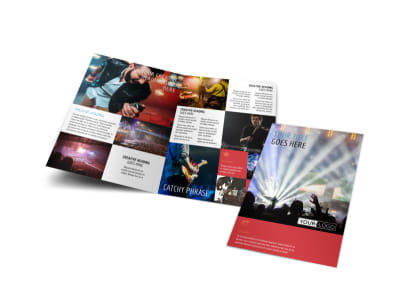 Band Info Bi-Fold Brochure Template