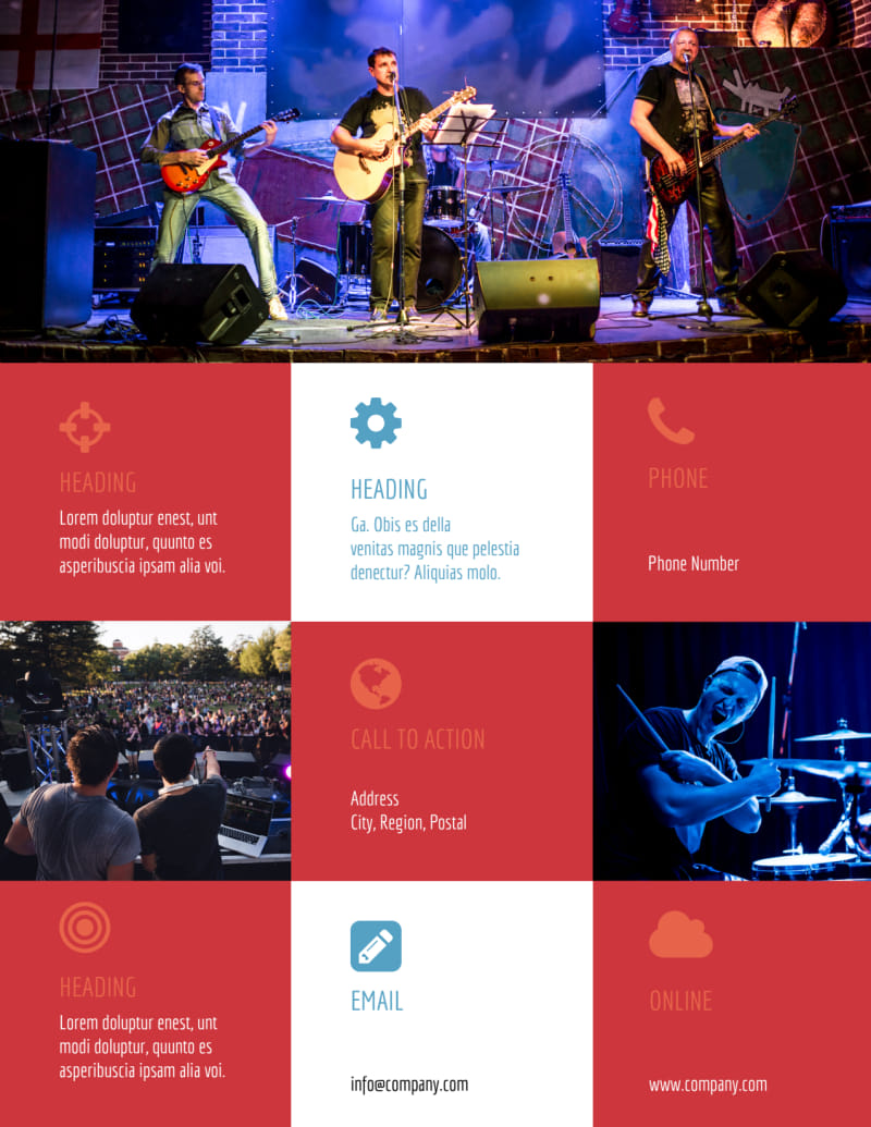 Band Info Flyer Template Preview 3