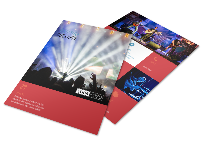 Band Info Flyer Template Preview 1