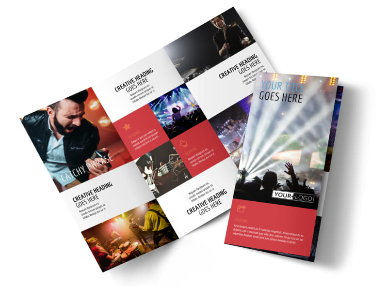 Band Info Tri-Fold Brochure Template