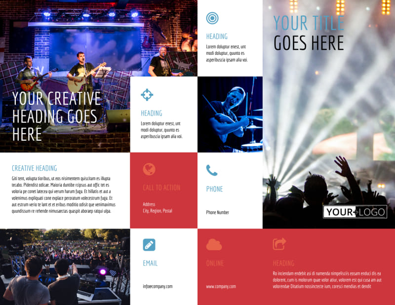 Band Info Brochure Template Preview 2