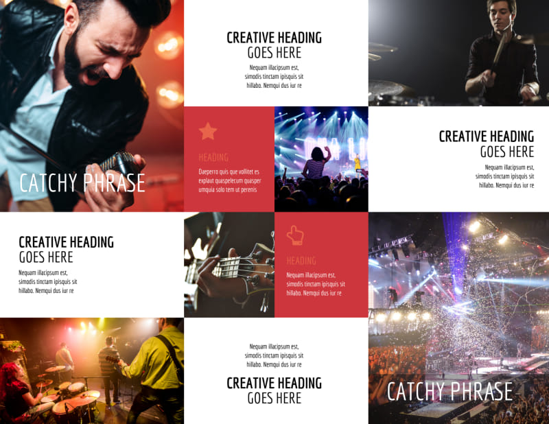 Band Info Brochure Template Preview 3