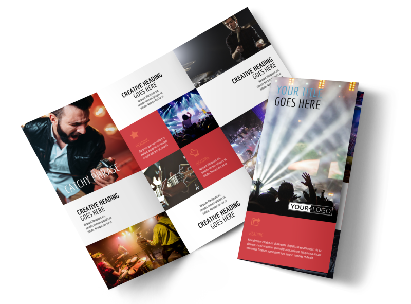 Band Info Brochure Template Preview 1