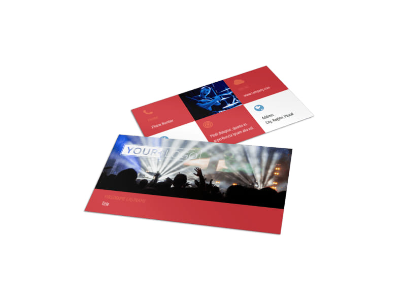 Band Info Business Card Template