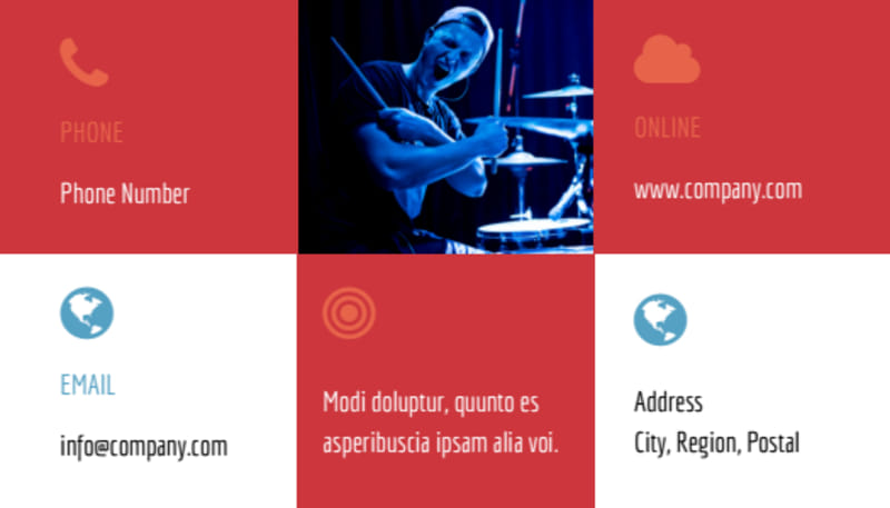 Band Info Business Card Template Preview 3