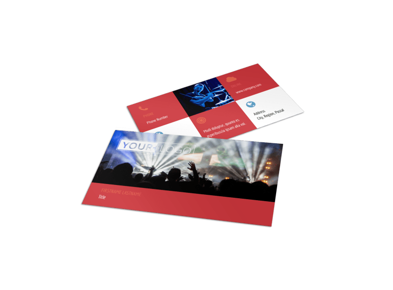 Band Info Business Card Template Preview 1