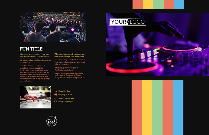 Go DJ Brochure Template Preview 2