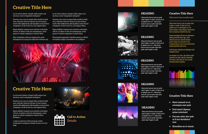 Go DJ Brochure Template Preview 3