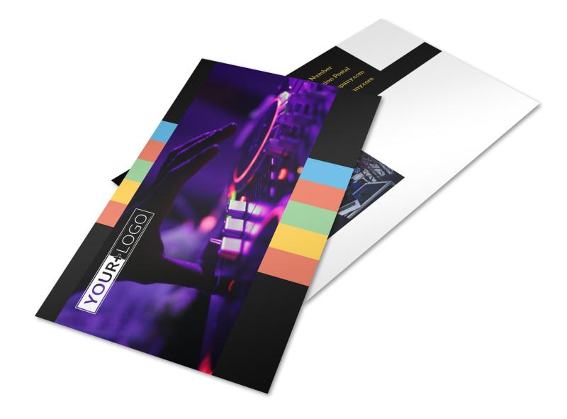 Go DJ Postcard Template 2