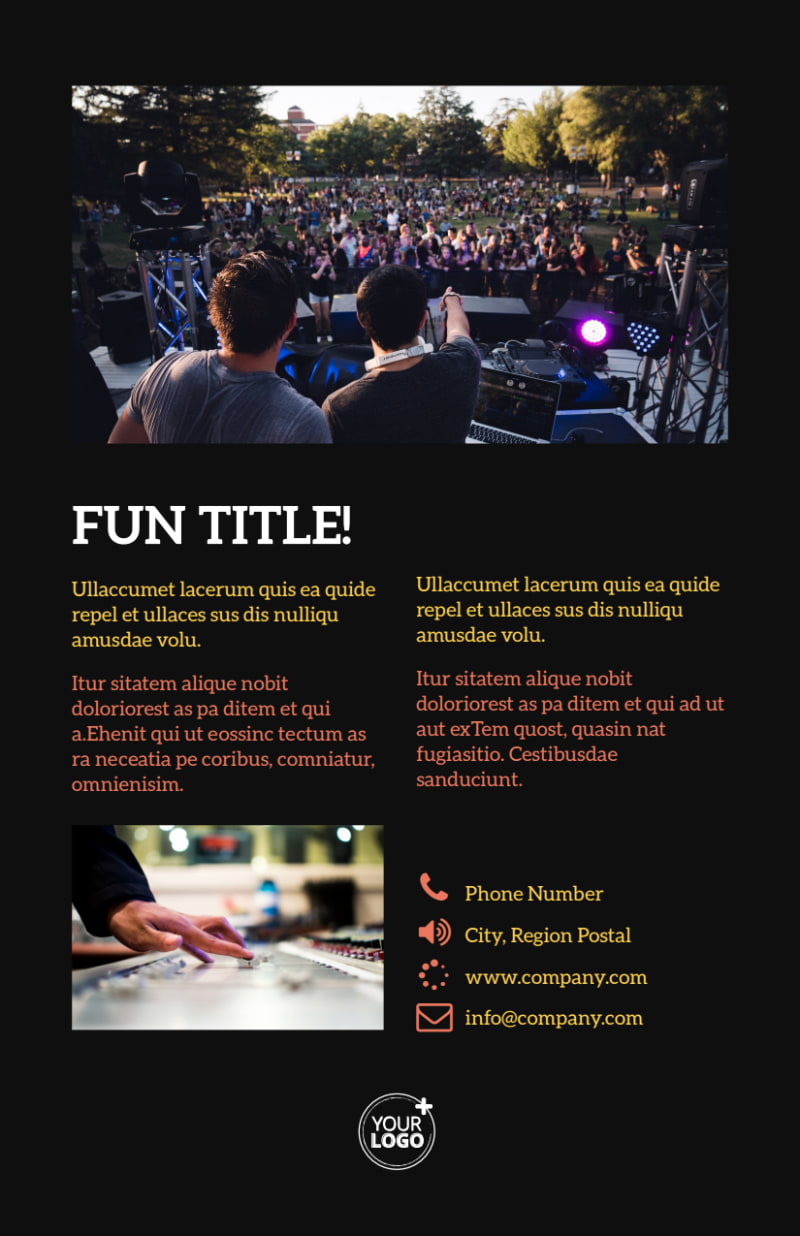 Go DJ Flyer Template Preview 3