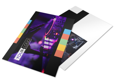 Go DJ Postcard Template preview