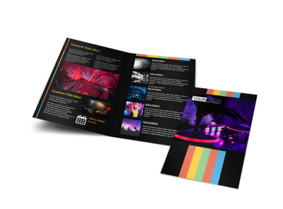 Go DJ Bi-Fold Brochure Template preview
