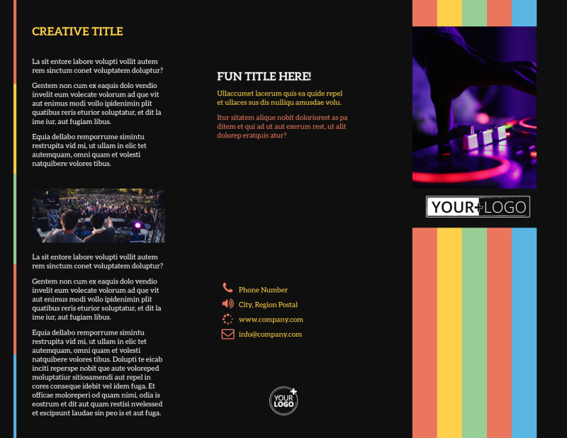Go DJ Brochure Template Preview 2