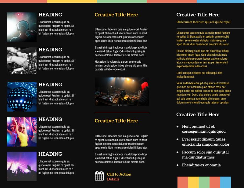 Go DJ Brochure Template Preview 3