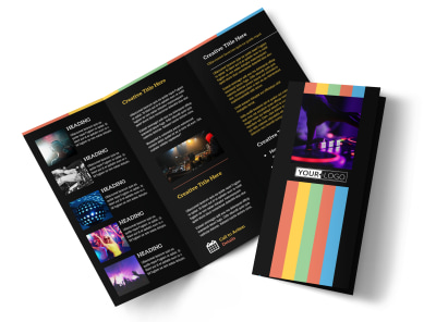 Go DJ Tri-Fold Brochure Template preview
