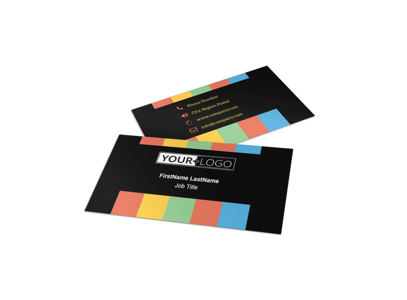Go DJ Business Card Template Preview 1