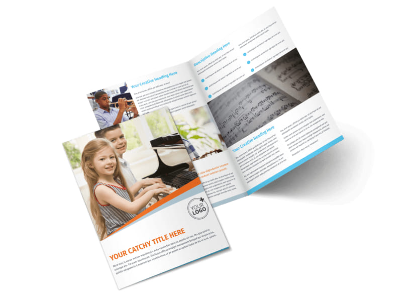 Your Music Lessons Bi-Fold Brochure Template 2