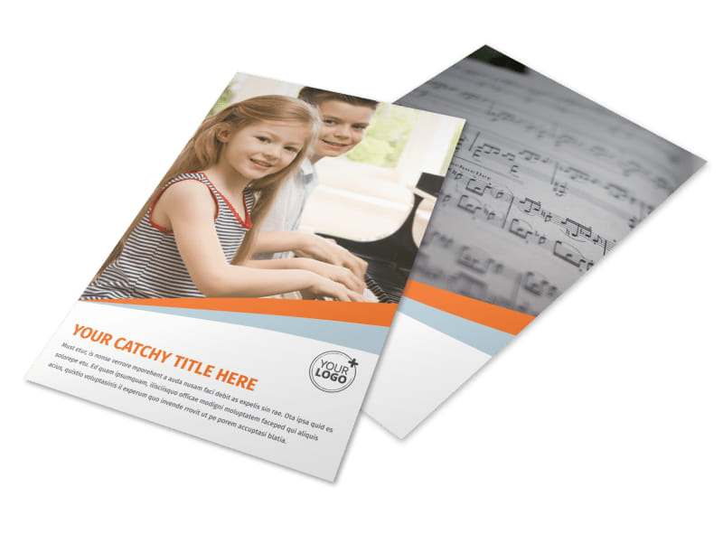 Your Music Lessons Flyer Template 3