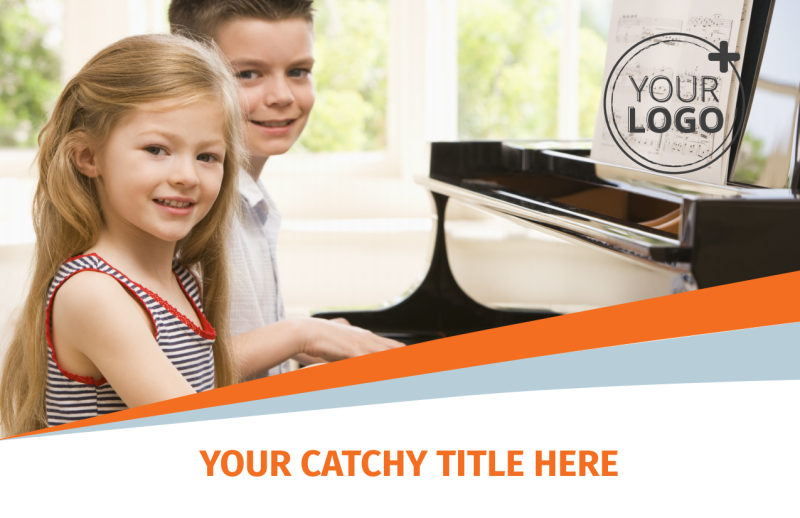 Your Music Lessons Postcard Template Preview 2