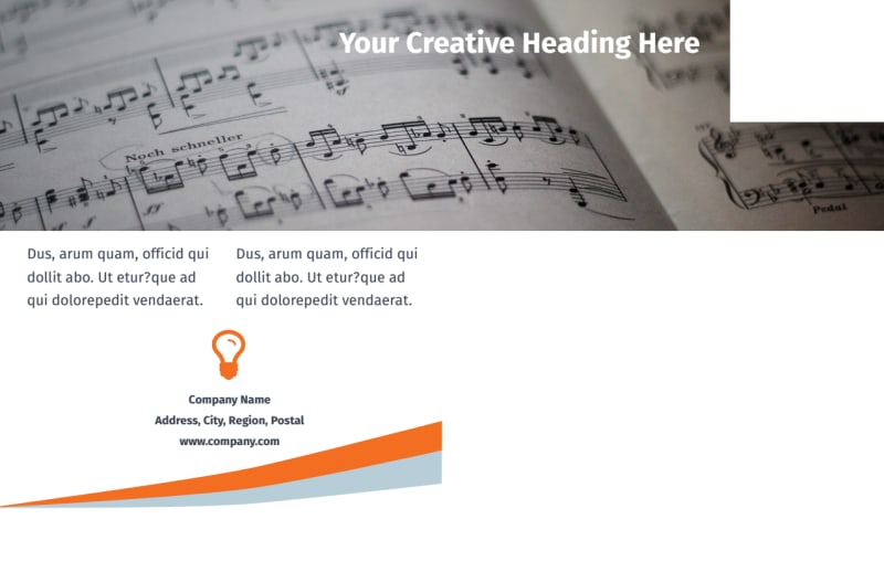 Your Music Lessons Postcard Template Preview 3