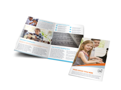 Your Music Lessons Bi-Fold Brochure Template preview