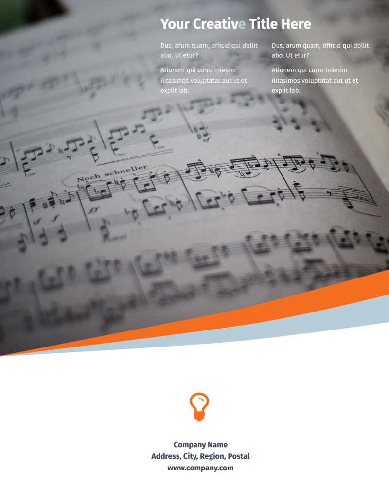 Your Music Lessons Flyer Template Preview 3
