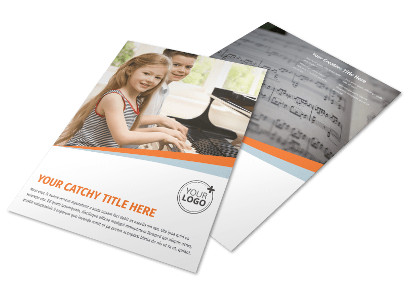 Your Music Lessons Flyer Template Preview 1