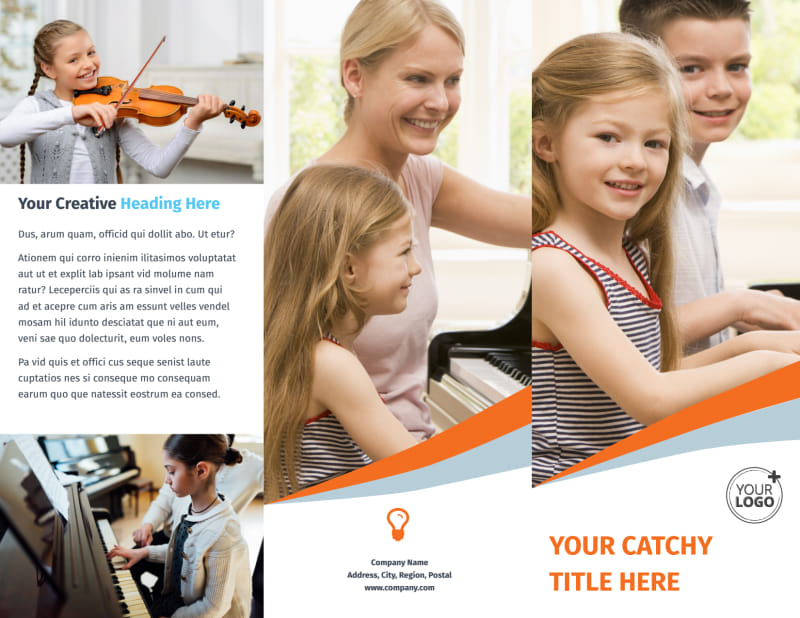 Your Music Lessons Brochure Template Preview 2