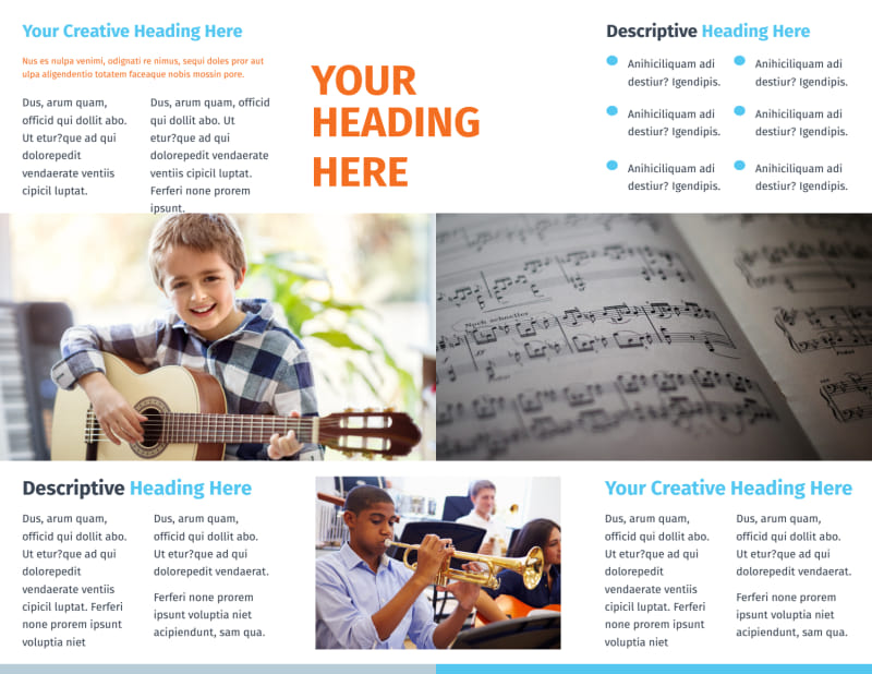 Your Music Lessons Brochure Template Preview 3