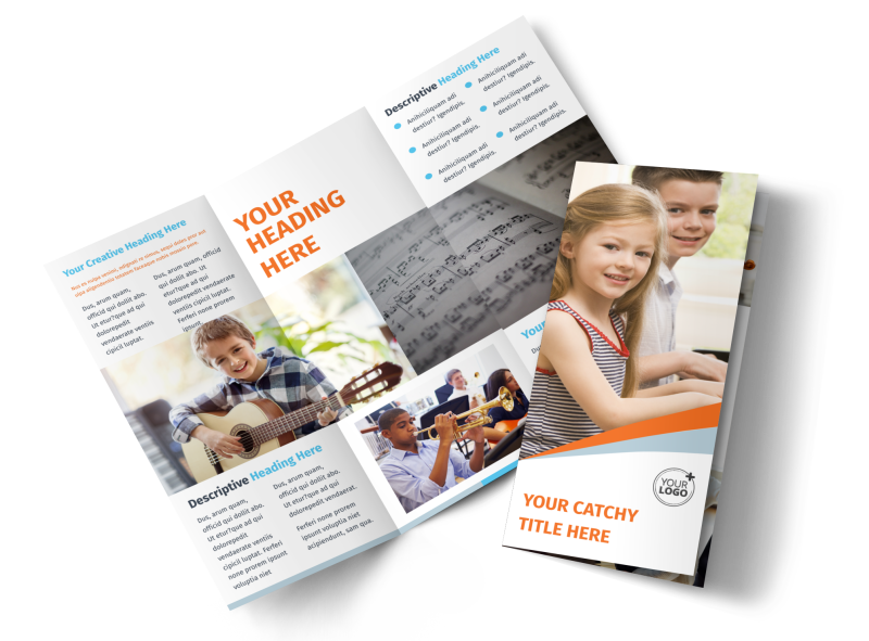 Your Music Lessons Brochure Template Preview 1
