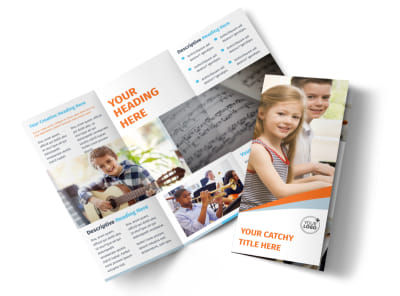 Your Music Lessons Tri-Fold Brochure Template preview