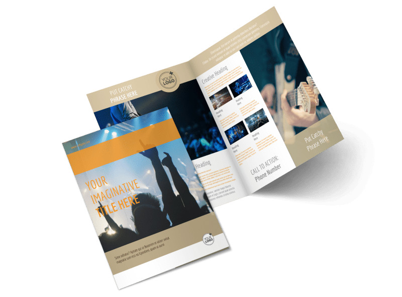 Music Event Bi-Fold Brochure Template 2