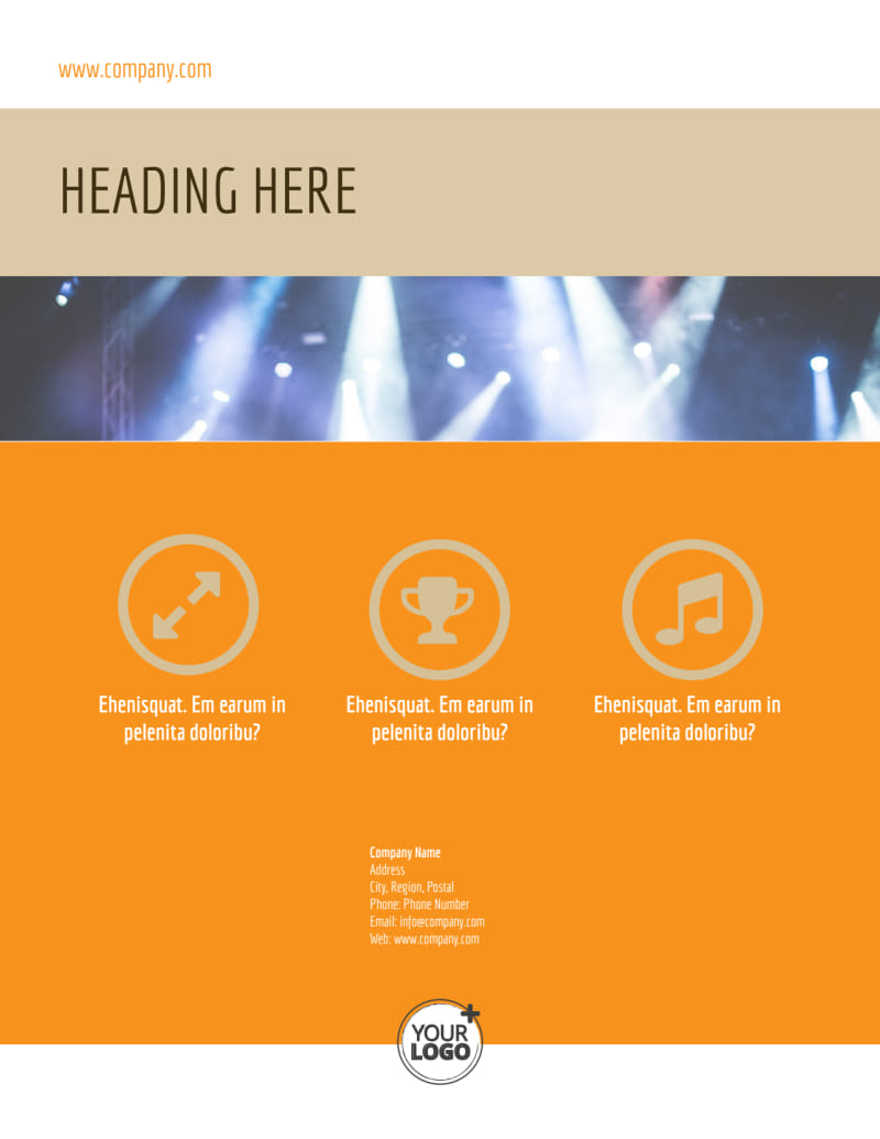 Music Event Flyer Template Preview 3