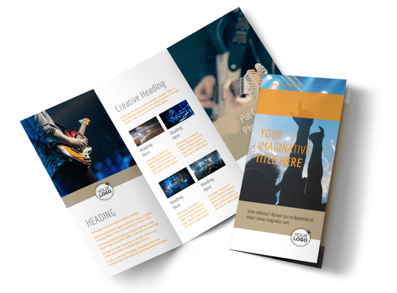 Music Event Brochure Template  Mycreativeshop
