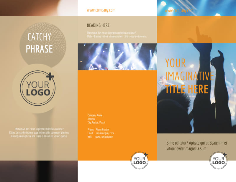 Music Event Brochure Template Preview 2