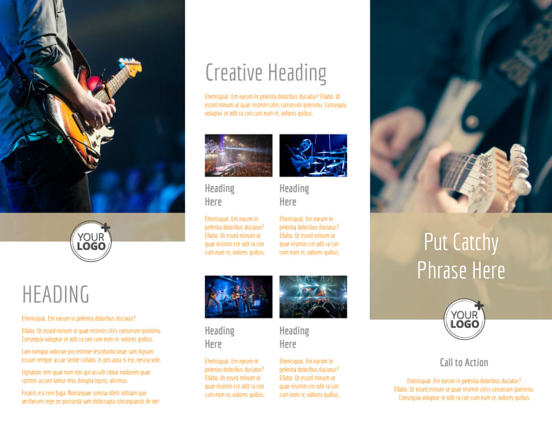 Music Event Brochure Template Preview 3