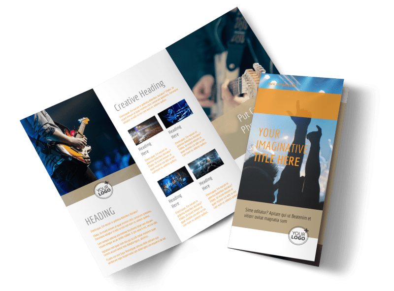 Music Event Brochure Template Preview 1