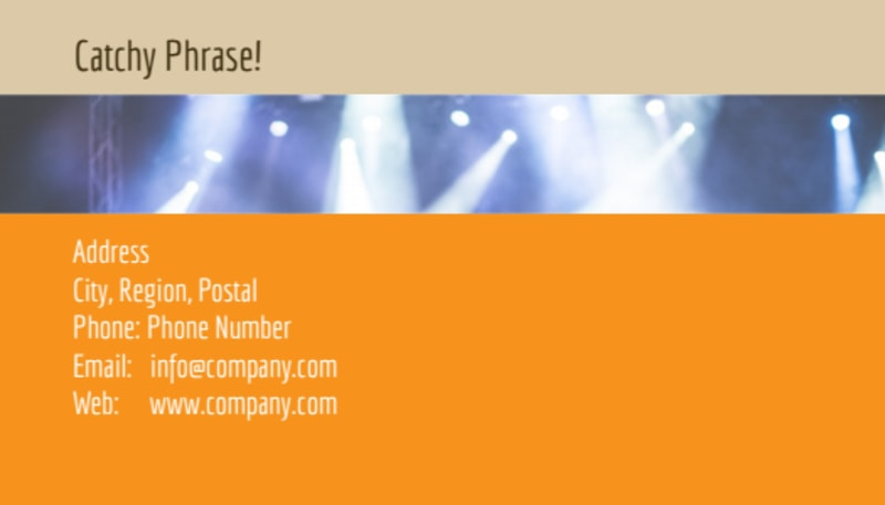 Music Event Business Card Template Preview 3