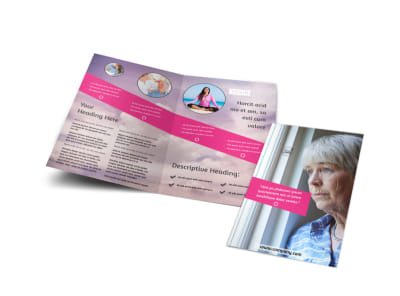 Mental Health Bi-Fold Brochure Template