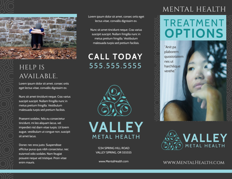 Mental Health Brochure Template Preview 2