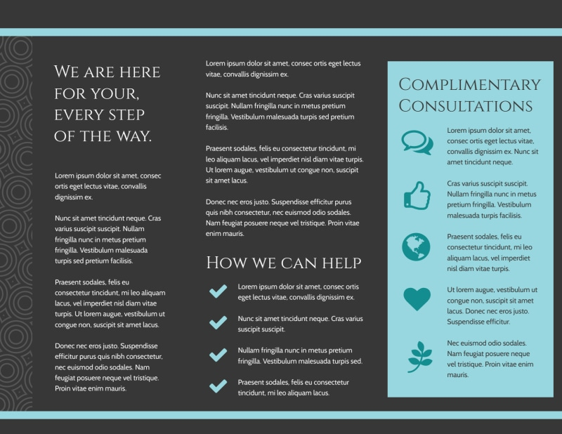 Mental Health Brochure Template Preview 3