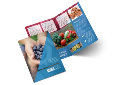 Health Nutrition Bi-Fold Brochure Template 2