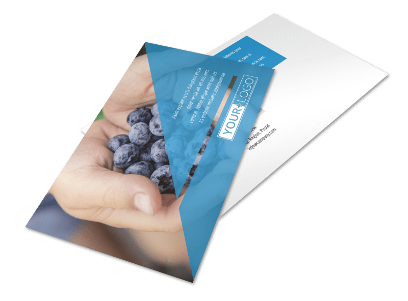 Health Nutrition Postcard Template Preview 1