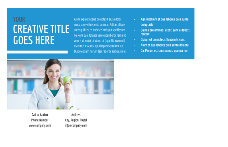 Health Nutrition Postcard Template Preview 3