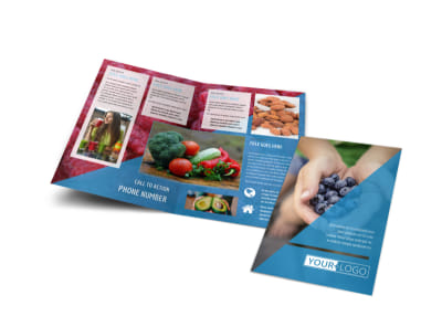 Health Nutrition Bi-Fold Brochure Template